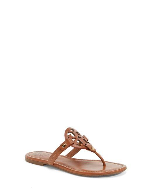 Tory Burch Black Miller Thong Sandals