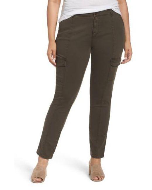 Caslon | Green Caslon Skinny Cargo Pants | Lyst