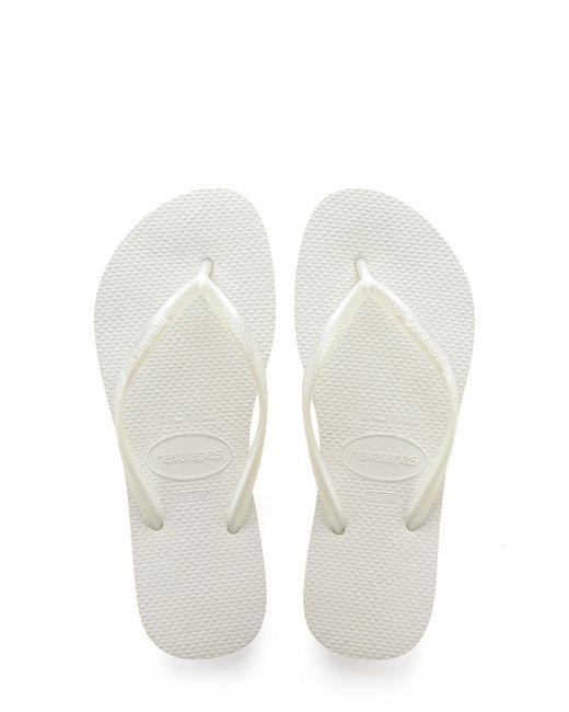 Havaianas White Slim Flip Flop