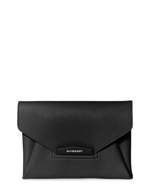 Givenchy - Black Antigona Medium Leather Envelope Clutch Bag  - Lyst