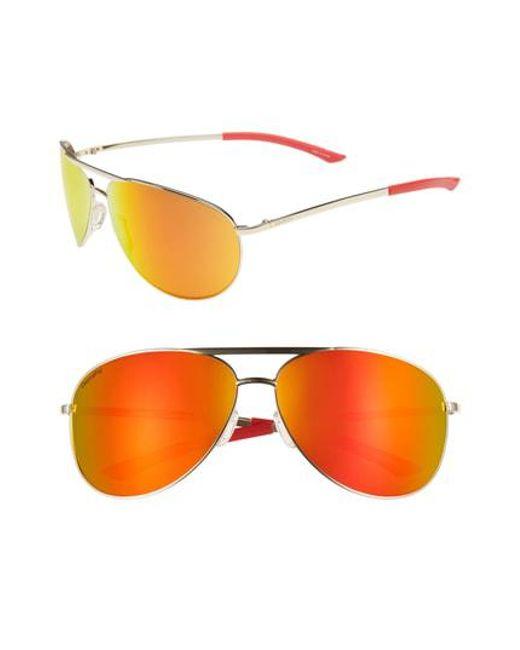 b8cde8be109 Smith - Multicolor Serpico 2 65mm Mirrored Chromapop(tm) Aviator Sunglasses  for Men -