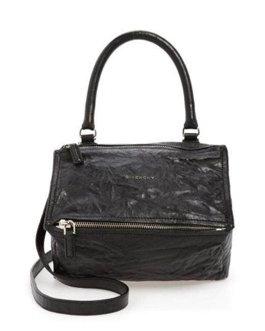 Givenchy Black Small Pepe Pandora Leather Shoulder Bag Lyst