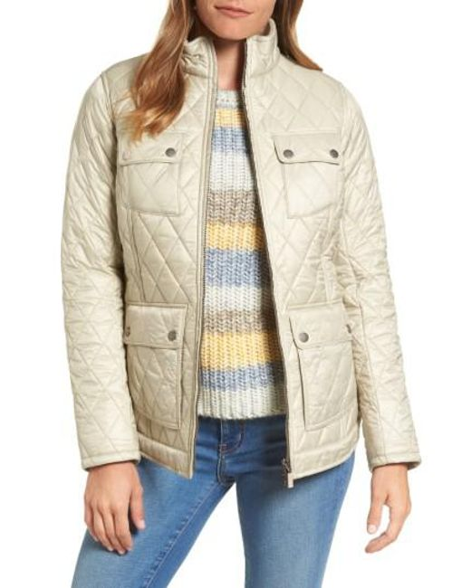 Barbour   Natural Filey Water Resistant Quilted Jacket   Lyst