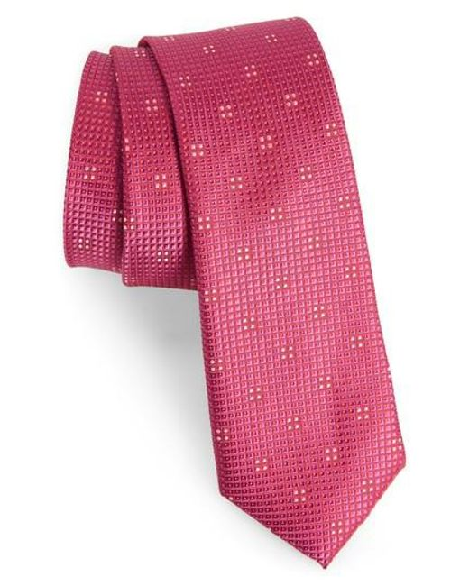 Calibrate | Pink Classic Neat Silk Tie for Men | Lyst