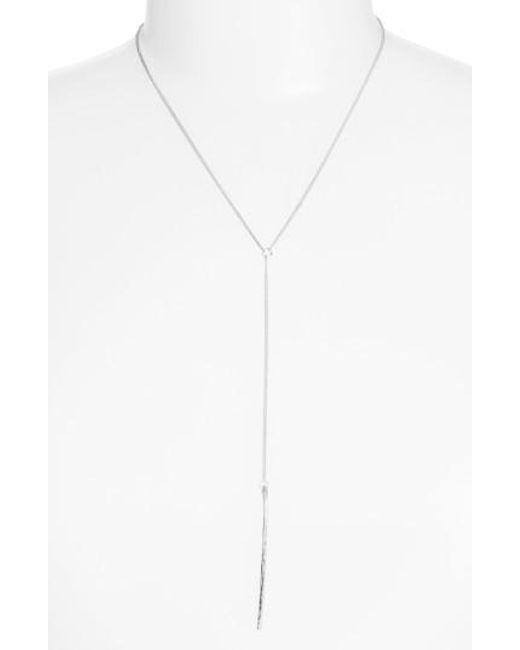 Nashelle | Metallic Ija Long Bar Y-necklace | Lyst