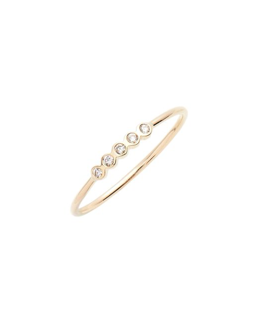 Zoe Chicco - Metallic 5-diamond Bezel Stock Ring - Lyst