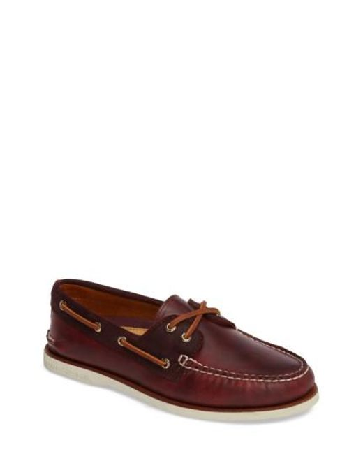 Sperry Top-Sider | Brown Gold Cyclone Boat Shoe for Men | Lyst