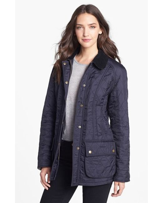 Barbour | Blue 'beadnell' Quilted Jacket | Lyst