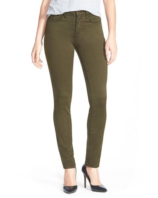 NYDJ | Green 'Alina' Colored Stretch Leggings | Lyst