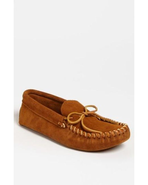 Minnetonka   Brown Suede Moccasin for Men   Lyst