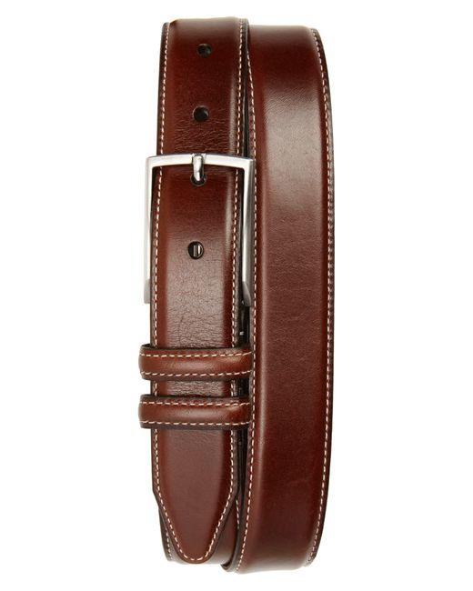 Nordstrom Brown Carter Leather Dress Belt for men