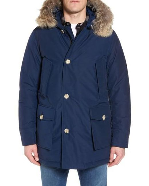 Woolrich | Green John Rich & Bros. Arctic Parka With Genuine Coyote Fur Trim for Men | Lyst