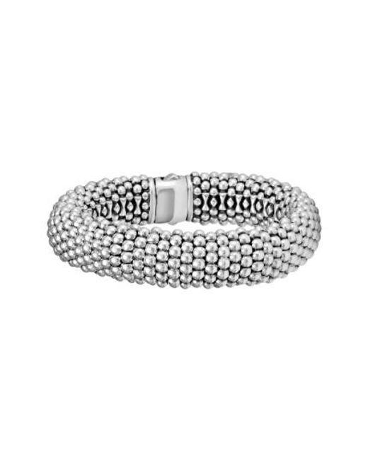 Lagos | Metallic Signature Caviar Wide Rope Bracelet (online Only) | Lyst