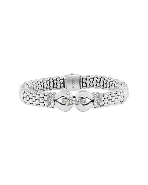 Lagos | Metallic 'derby' Caviar(tm) Diamond Rope Bracelet (online Only) | Lyst