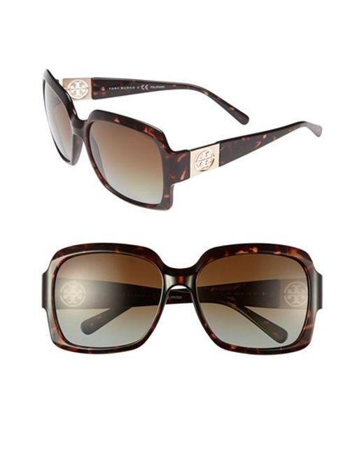 Tory Burch   Brown 59mm Polarized Sunglasses   Lyst