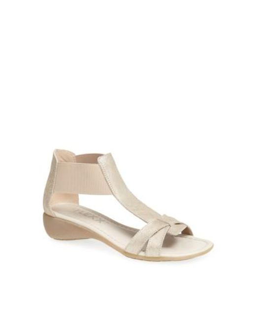 The Flexx | Metallic 'band Together' Sandal | Lyst