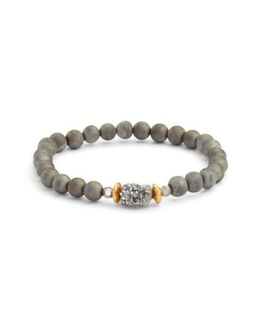 Chan Luu | Metallic Agate Stretch Bracelet | Lyst