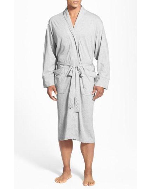 Daniel Buchler | Gray Peruvian Pima Cotton Robe for Men | Lyst