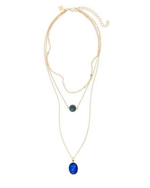 Panacea | Blue Multistrand Pendant Necklace | Lyst