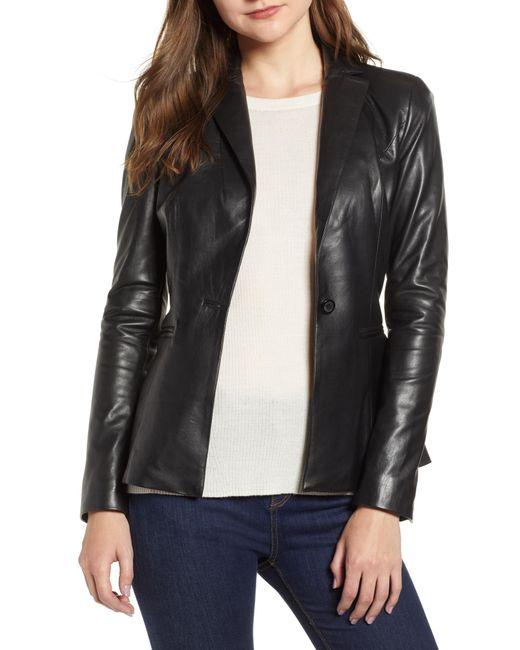 Lamarque - Black Viola Leather Jacket - Lyst