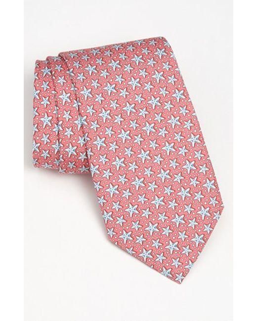 Vineyard Vines | Pink 'starfish' Silk Tie for Men | Lyst