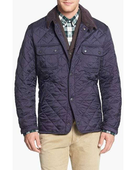 Barbour | Blue 'tinford' Regular Fit Quilted Jacket for Men | Lyst