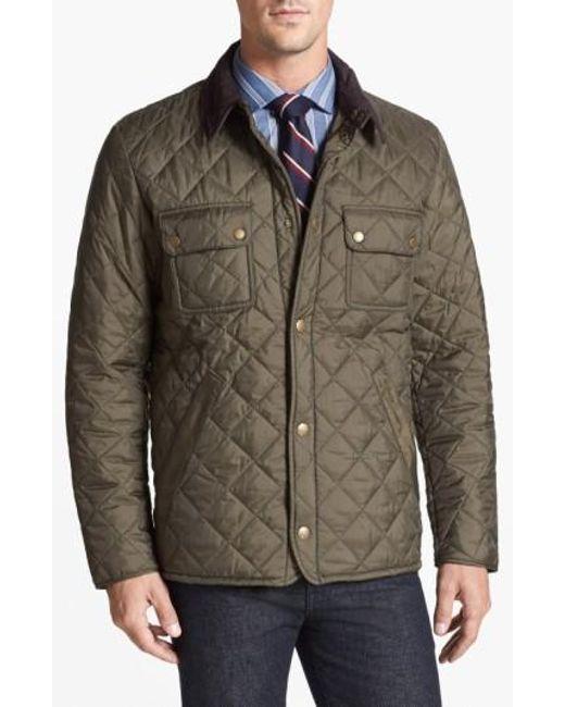 Barbour | Green 'tinford' Regular Fit Quilted Jacket for Men | Lyst