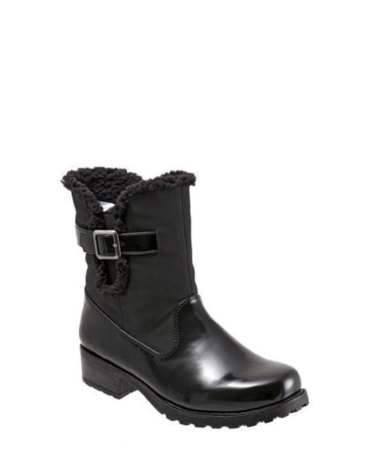 Trotters | Black Faux Fur-Lined Water-Resistant Boots  | Lyst