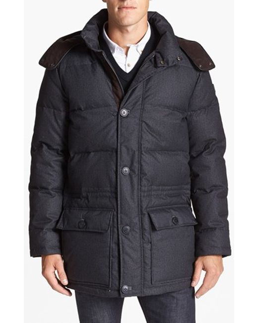 Vince Camuto | Gray 680-down Fill Quilted Hooded Parka for Men | Lyst