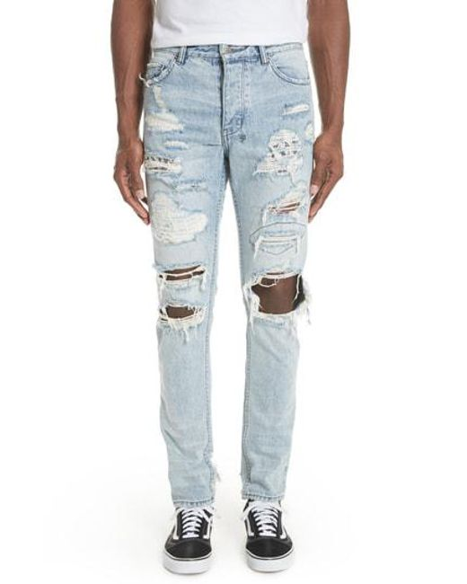 Ksubi - Blue Chitch Tropo Trash Jeans for Men - Lyst