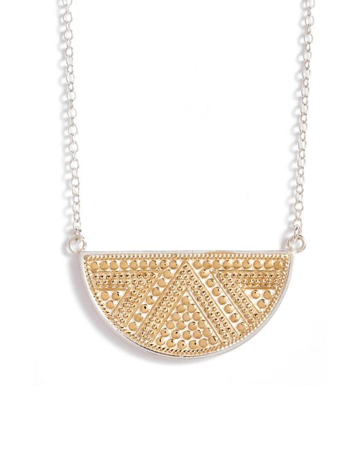Anna Beck - Metallic Reversible Pendant Necklace - Lyst