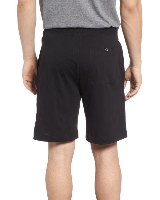 Daniel Buchler Black Peruvian Pima Cotton Shorts for men