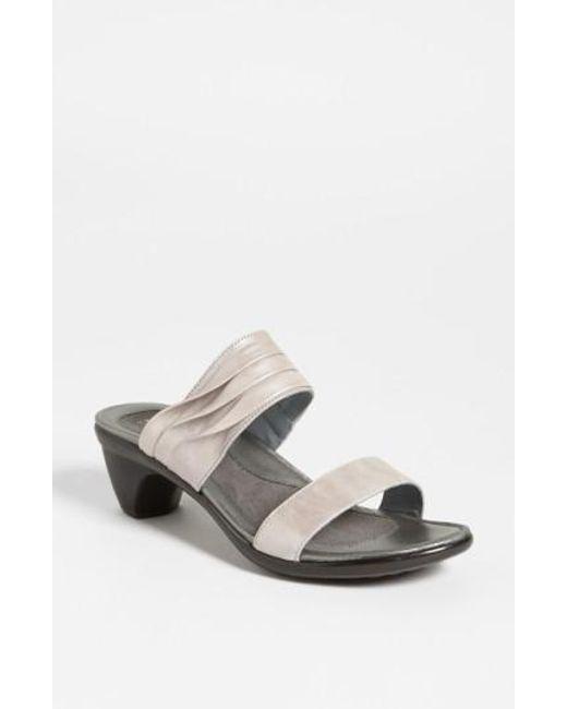 Naot | Gray 'isis' Sandal | Lyst