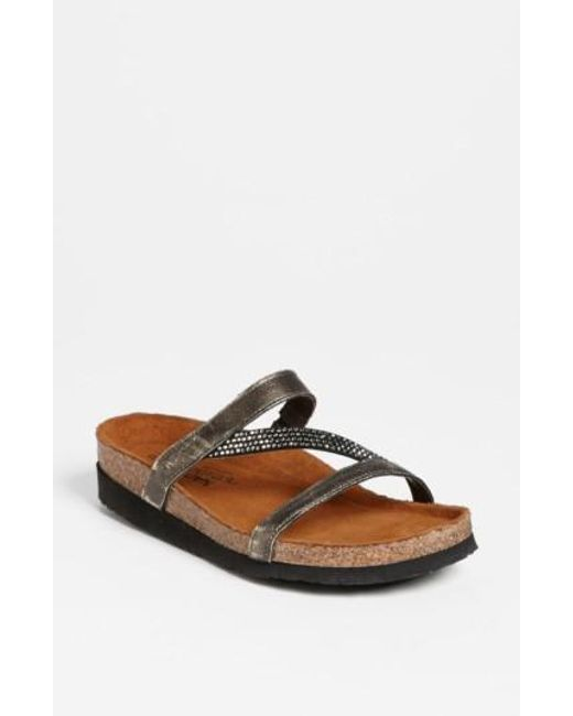 Naot | Metallic 'hawaii' Sandal | Lyst