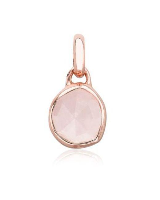 Monica Vinader   Pink Siren Mini Semiprecious Stone Bezel Pendant   Lyst