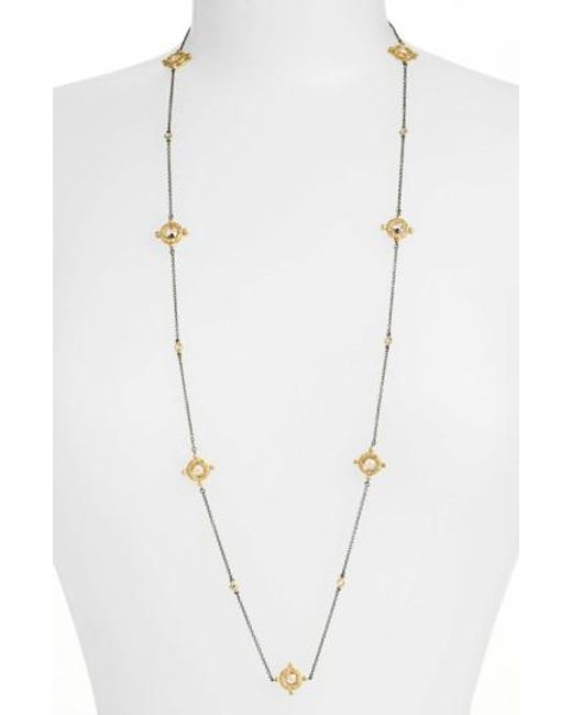 Freida Rothman | Metallic Long Station Necklace | Lyst