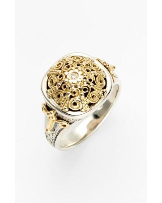 Konstantino | Metallic 'classics' Two-tone Diamond Ring | Lyst