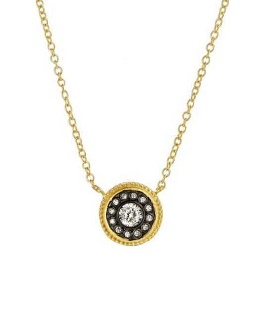 Freida Rothman   Metallic 'hamptons' Nautical Button Pendant Necklace   Lyst