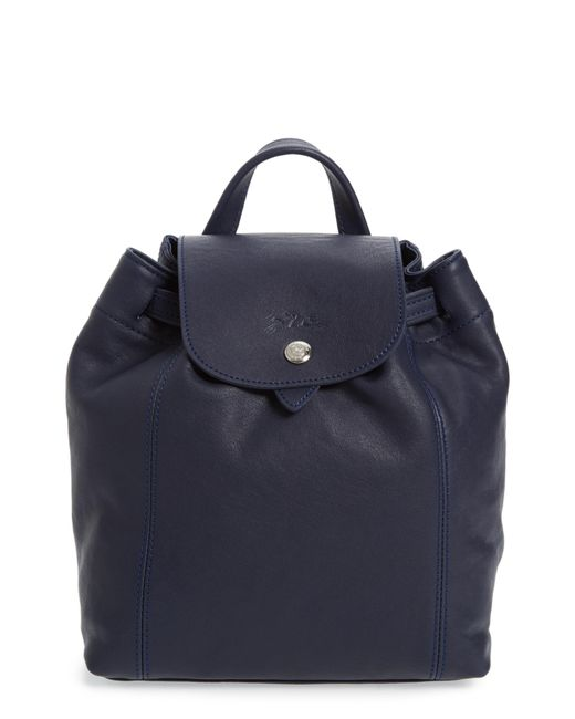 Longchamp - Blue Extra Small Le Pliage Cuir Backpack - Lyst