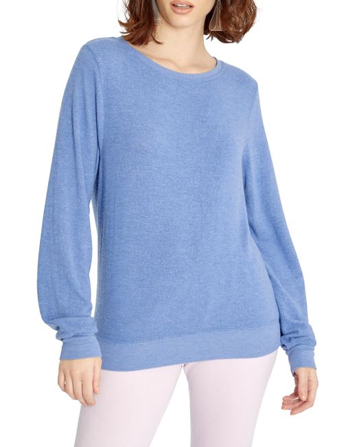 Wildfox Blue Baggy Beach Jumper Pullover