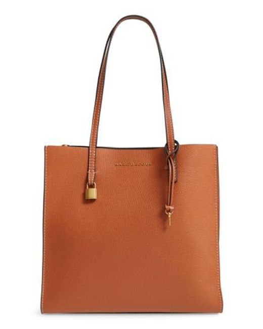 Marc Jacobs | Brown The Grind East/west Leather Shopper | Lyst