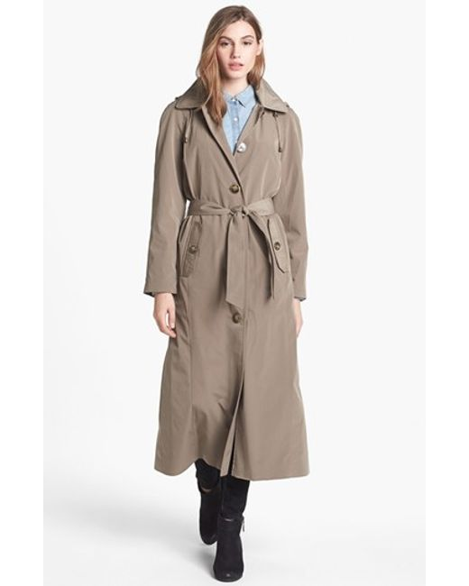 London Fog   Natural Long Trench Coat With Detachable Hood & Liner   Lyst