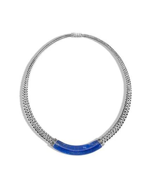 John Hardy - Metallic Classic Chain Sterling Silver Lapis Lazuli Necklace - Lyst