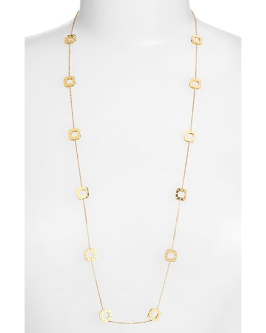 Roberto Coin | Metallic 'pois Moi' Long Station Necklace | Lyst