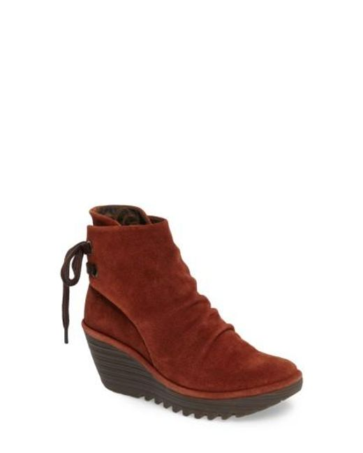 Fly London   Brown 'yama' Bootie   Lyst