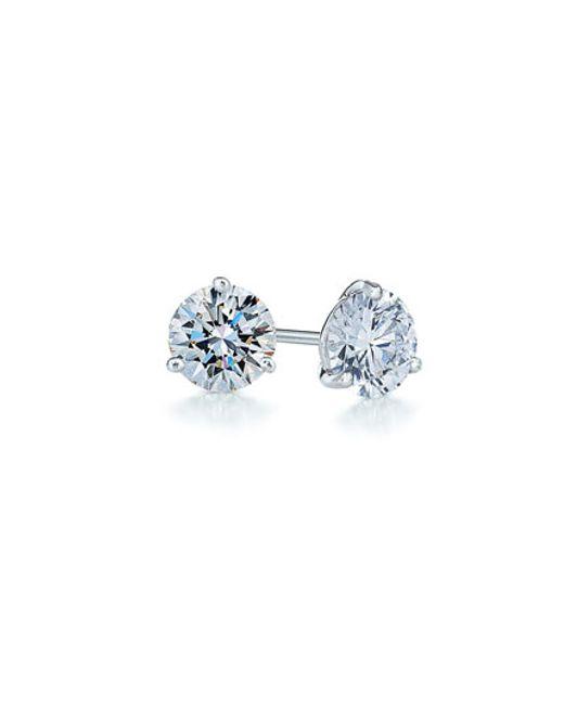 Kwiat | White 0.50ct Tw Diamond & Platinum Stud Earrings | Lyst