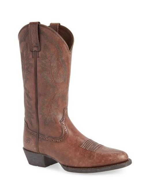 Ariat - Brown Heritage Calhoun Western R-toe Boot for Men - Lyst