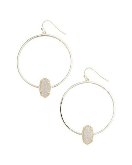 Kendra Scott   Metallic Elora Frontal Hoop Earrings   Lyst