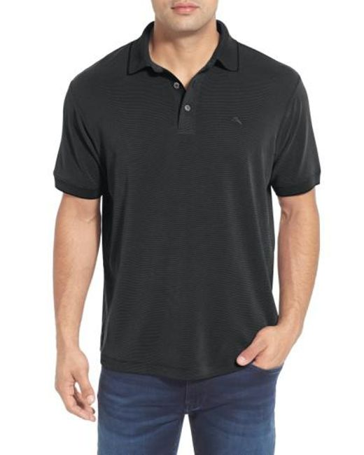 Tommy Bahama | Black 'new Pebble Shore' Short Sleeve Polo for Men | Lyst
