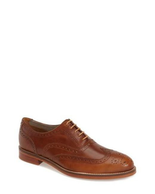 J SHOES | Brown 'charlie Plus' Wingtip Oxford for Men | Lyst